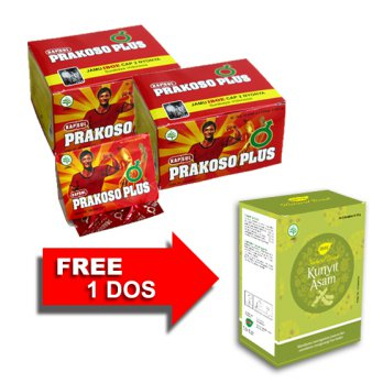 Promo Jamu IBOE Prakoso Plus Herbal Supplement - 2 dos @20 kapsul