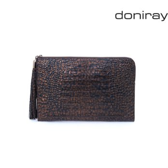 Share ReportSize Guide [Doniray] Leather Luxury hand bag FRANCESCO LARGE CLUTCH [cafe noir]