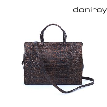 [Doniray] Leather Luxury hand bag PIER BRIEFCASE [cafe noir]/ Italy Toscana leather/Tote/satchel