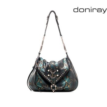 [Doniray] Leather Luxury hand bag SURI FLAP HOBO [phthalo green]/ Italy Toscana leather/Tote/satchel