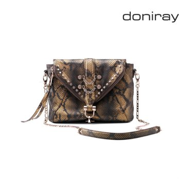 [Doniray] Leather Luxury hand bag SURI FLAP X BODY [golden brown] / Italy Toscana leather/Tote