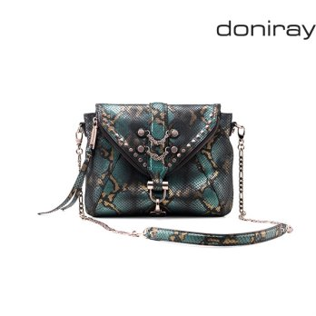 [Doniray] Leather Luxury hand bag SURI FLAP X BODY [phthalo green]/ Italy Toscana leather/Tote