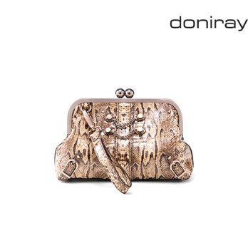 [Doniray] Leather Luxury hand bag SURI FRAME CLUTCH [natural]/Italy Toscana leather/Tote/satchel