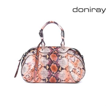 [Doniray] Leather Luxury hand bag LUCIA SATCHEL [vulcano pink]/ Italy Toscana leather/Tote/satchel