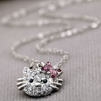 Hello Kitty Diamond Necklace Kalung  YXX199 SJ0059