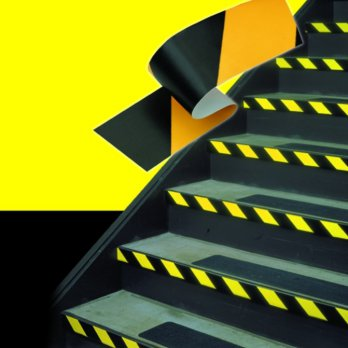 3M Hazard Warning Vinyl Marking Tape 766 Black/Yellow, 2 in x 36 yd