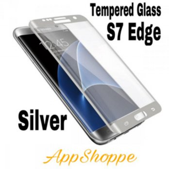 Tempered Glass Samsung Galaxy S7 Edge Full Screen Curved SILVER