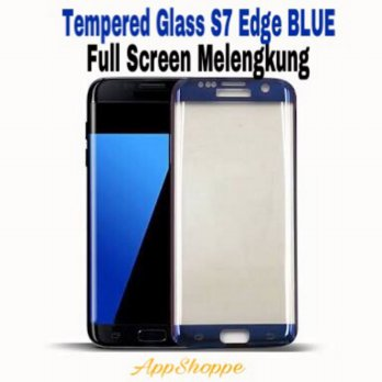 Tempered Glass Samsung Galaxy S7 Edge Full Cover Screen Protector BLUE