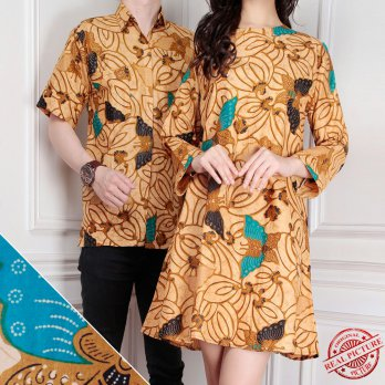 Cj collection Couple batik dress maxy pendek atasan blouse long tunik kemeja wanita mini dress dan atasan kemeja pria shirt Nancy
