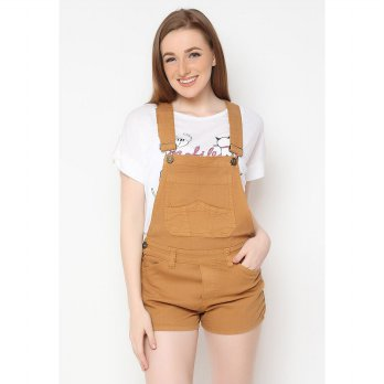 Mobile Power Ladies Overall Short - Light Brown B9823