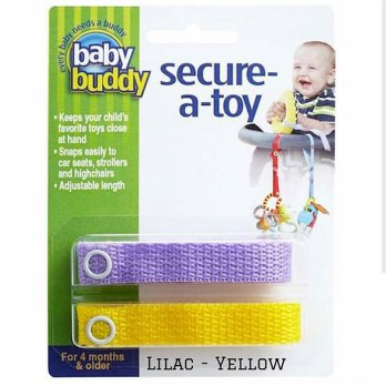 Baby Buddy Secure A Toy Lilac Yellow