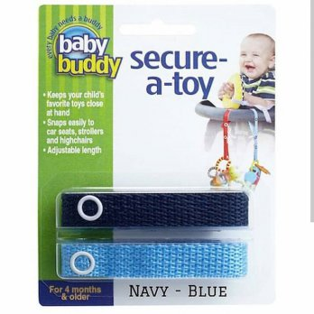 Baby Buddy Secure A Toy Navy Blue