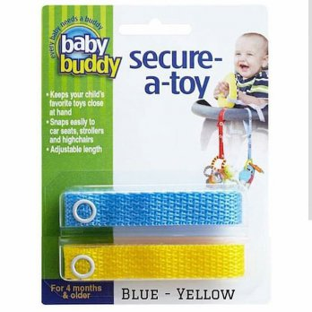 Baby Buddy Secure A Toy Blue yellow