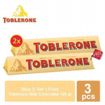 [Buy 2 Get 1] Toblerone Milk 100gr 2 Pcs - Free Toblerone Milk 100gr
