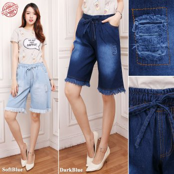 SB Collection Celana Pendek Martina Hotpants Jeans Sobek Wanita