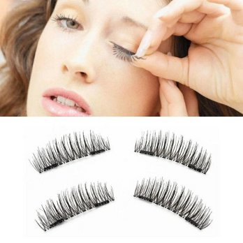 BuluMata Palsu Tebal 3D False Double Magnetic Magnetik Face Eyelashes Eye Lash Bulu Mata Palsu Magnet Import Best Seller