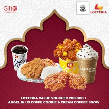 Puasa 9 - Lotteria Value Voucher 200.000 + Angel in Us Coffe COOKIE  CREAM COFFEE SNOW