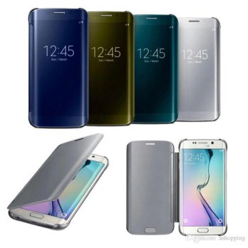 Flip Mirror Samsung A9 Pro 6.0 inchi Flip Wallet Clear View Autolock