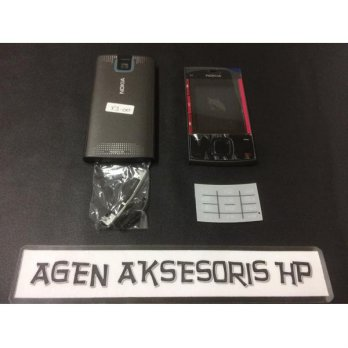 Casing Fullset Nokia X3-00 X3 00 Housing Bezel Backdoor Tulangan Karet