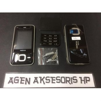 Casing Fullset Nokia N81 2GB 8GB Housing Bezel Backdoor Karet Tulangan
