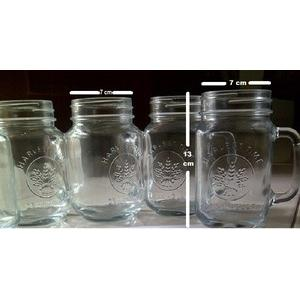 Jual Grosir Drinking Jar Harvest Time, Cafe Glass, Mug Jar Tanpa Tutup, Gelas Toples/ DAPLO383