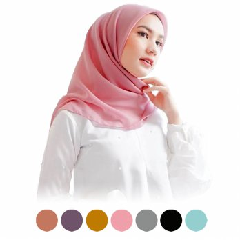 Jilbab Segiempat Poly Cotton Ori - Potton