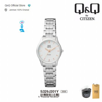 Q&Q QnQ QQ Original Jam Tangan Wanita Analog Fashion - S329 S329J Water Resist