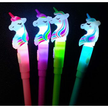 PULPEN GEL CUTE UNICORN KUDA PONY ANGUN RAINBOW LAMPU 8785