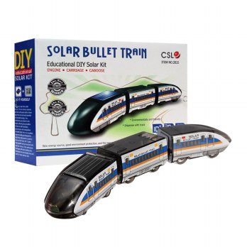 Solar Bullet Train Educationan DIY Kereta Tenaga Matahari