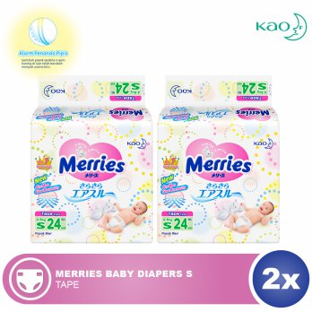 Merries Baby Diapers S 24s - 2 pcs