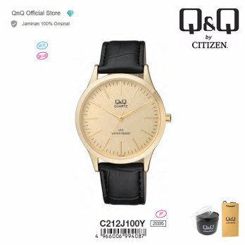Q&Q QnQ QQ Original Jam Tangan Pria Analog Formal - C212 C212J Water Resist