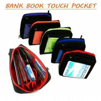Termurah! BANK BOOK TOUCH POCKET ( DOMPET HANPHONE ORGANIZER , POUCH POCKET )