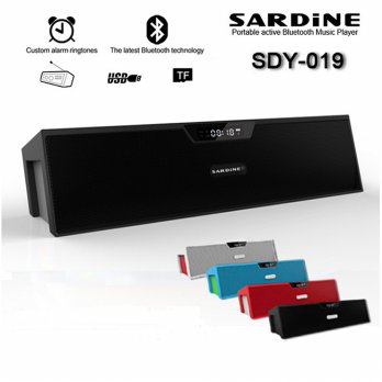 Sardine Altavoz HiFi Portable Bluetooth Speaker - SDY-019 - Black