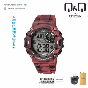 Q&Q QnQ QQ Original Jam Tangan Pria Army  Sport Watch- M146 M146J Water Resist
