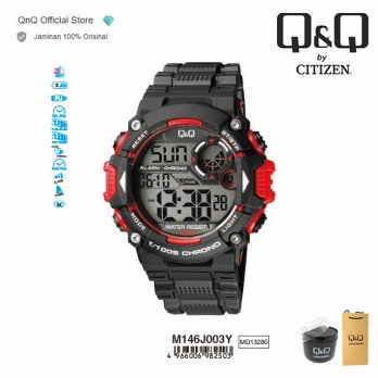 Q&Q QnQ QQ Original Jam Tangan Pria Digital Sport Watch - M146 M146J Water Resist
