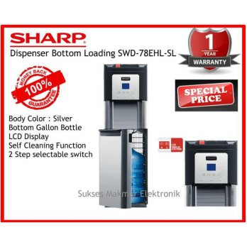Sharp Dispenser Swd-78EHL-SL - Silver Dispenser Stainless Steel Bottom Loading