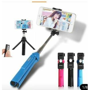 Tongsis Tripod Bluetooth Shutter GEPRO for Hp, Camera & Go Pro