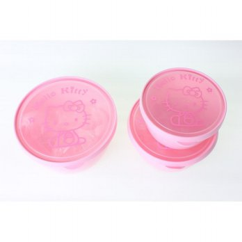 TEMPAT MAKAN OMPRENG LUNCH BOX 3IN1 HELLO KITTY 8904