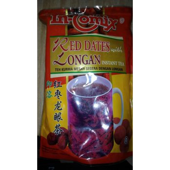 In comix Red dates with longan instant tea Teh kurma merah longan 18s