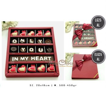 Trulychoco Kado Coklat Love Edition - ONLY YOU IN MY HEART - tutup hardcover
