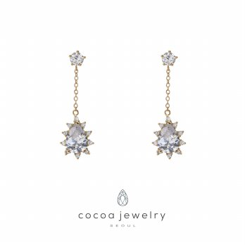 Cocoa Jewelry Anting Ice Flowers