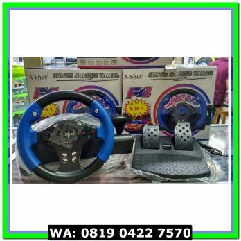(Diskon) X-Shot Super Racing Wheel 5 in 1 - Stir PS1 - PS2 - PS3 - PC