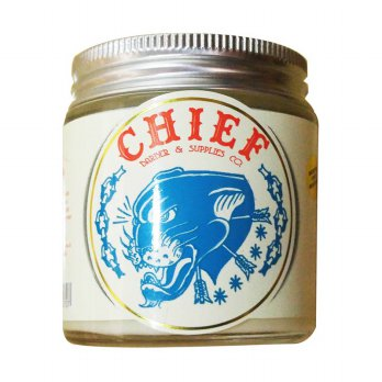 CHIEF POMADE PANTHERA WHITE (HYBRID POMADE) GLASS JAR 4.2 OZ + FREE SISIR