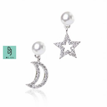BE.JUU Anting Little Star Moon Korean Jewelry