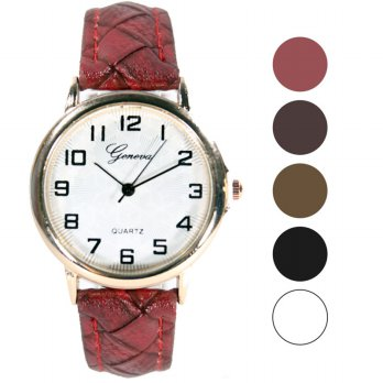 Geneva Pu Leather watches 5 color FIN-121