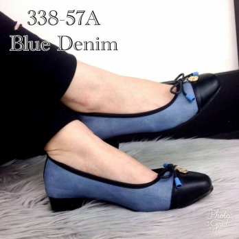 DJ Fashion  Eliza® Ramsey Denim Pumps Leather 338-57A