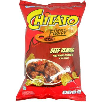 Chitato Potato Chips Do Us a Flavor Beef Rendang 55 gram