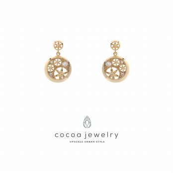 Cocoa Jewelry Anting Flower Blossom