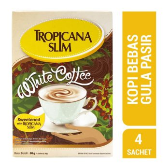Tropicana Slim White Coffee (4 Sachet) - Sugar FREE