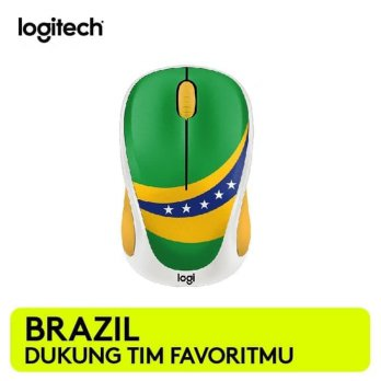 Promo Mouse Wireless Logitech M238 Fan Collection World Cup - Brazil